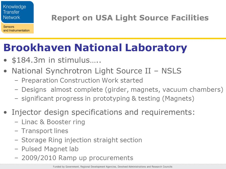Brookhaven National Laboratory $184.3m in stimulus…..