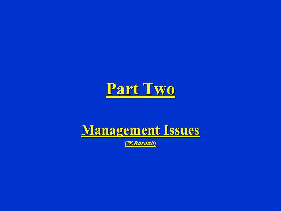 Part Two Management Issues (W.Busuttil)