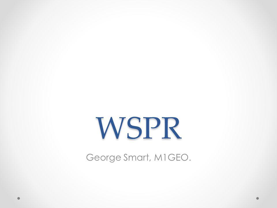 WSPR George Smart, M1GEO.