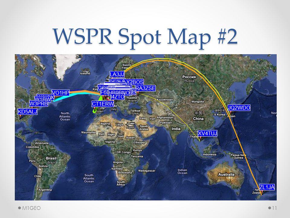WSPR Spot Map #2 11M1GEO