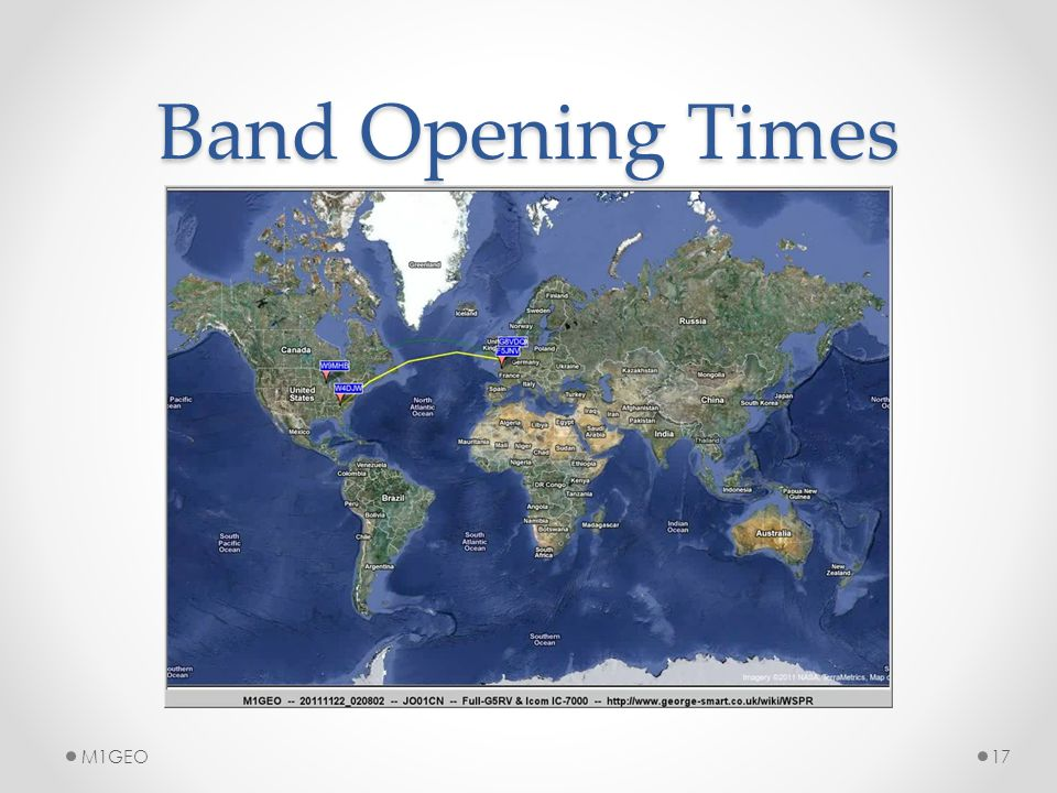 Band Opening Times M1GEO17