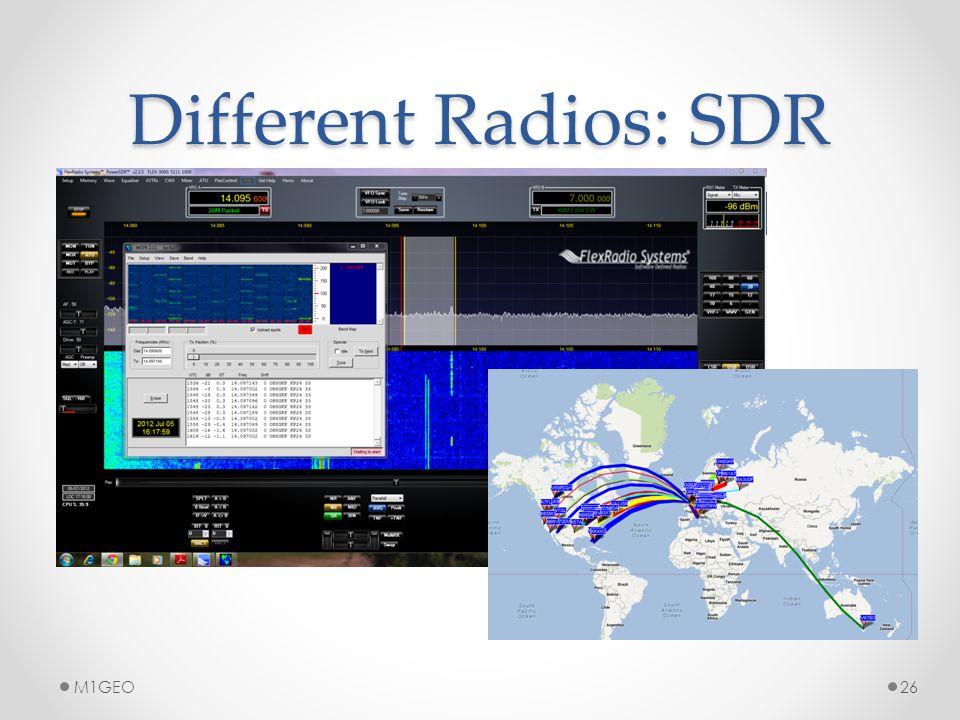 Different Radios: SDR M1GEO26