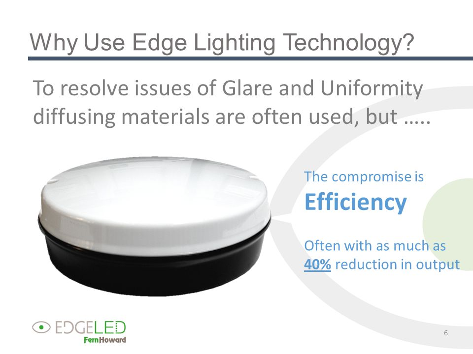 Why Use Edge Lighting Technology.