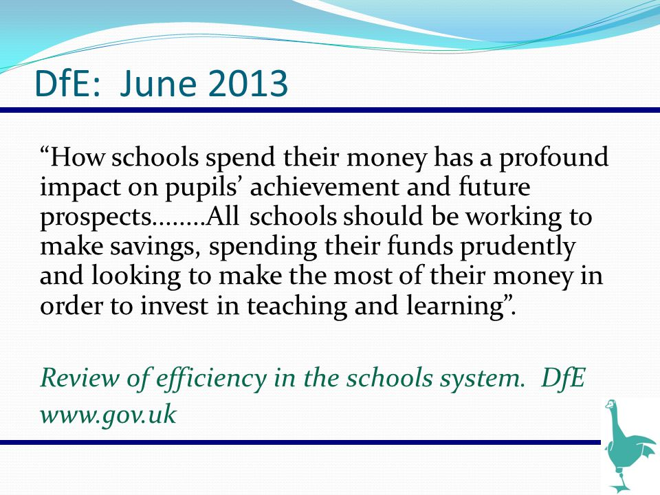 Review of Efficiency in the Schools System.DfE.
