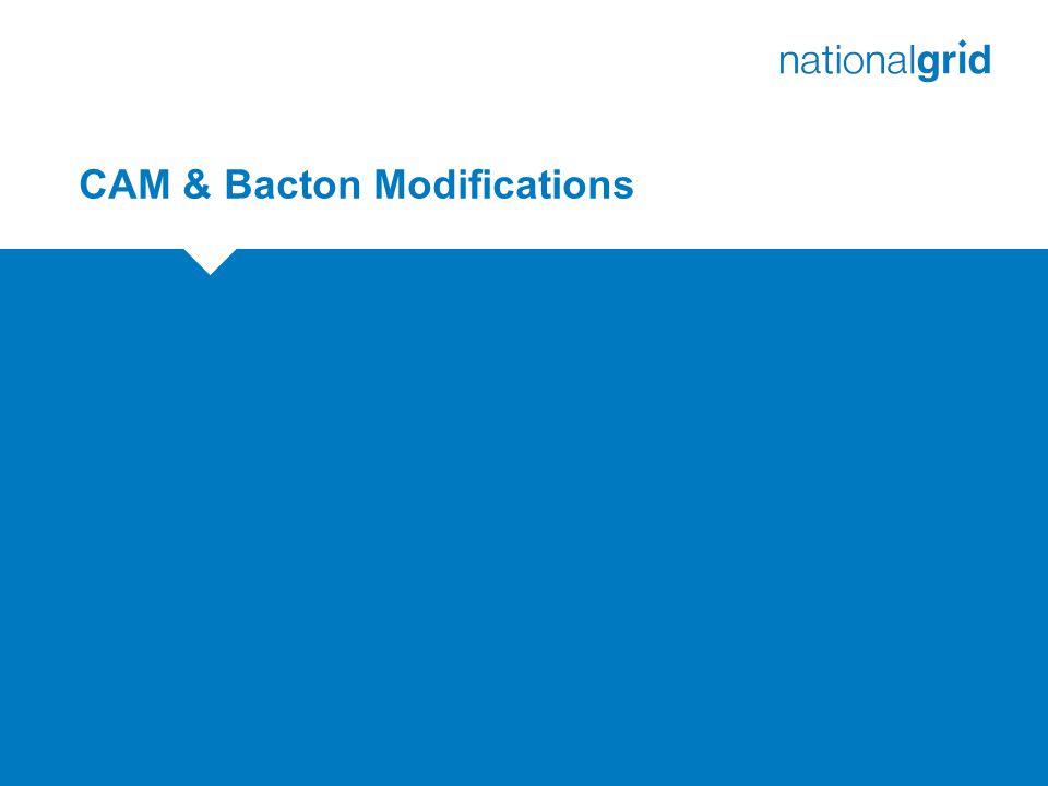 CAM & Bacton Modifications