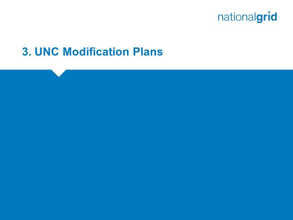 3. UNC Modification Plans