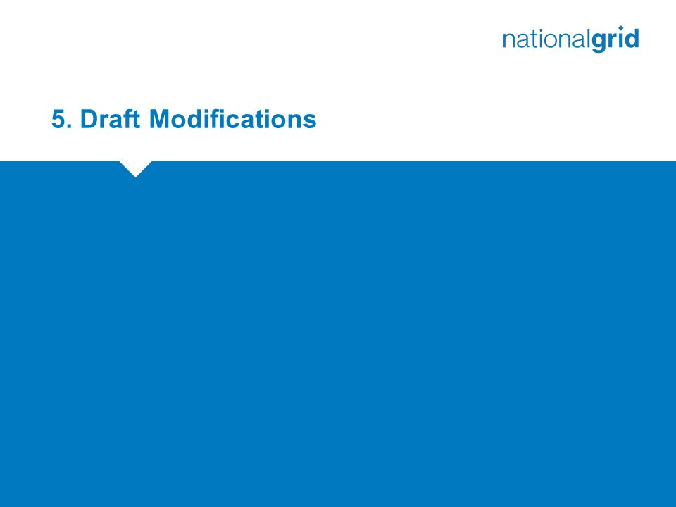 5. Draft Modifications