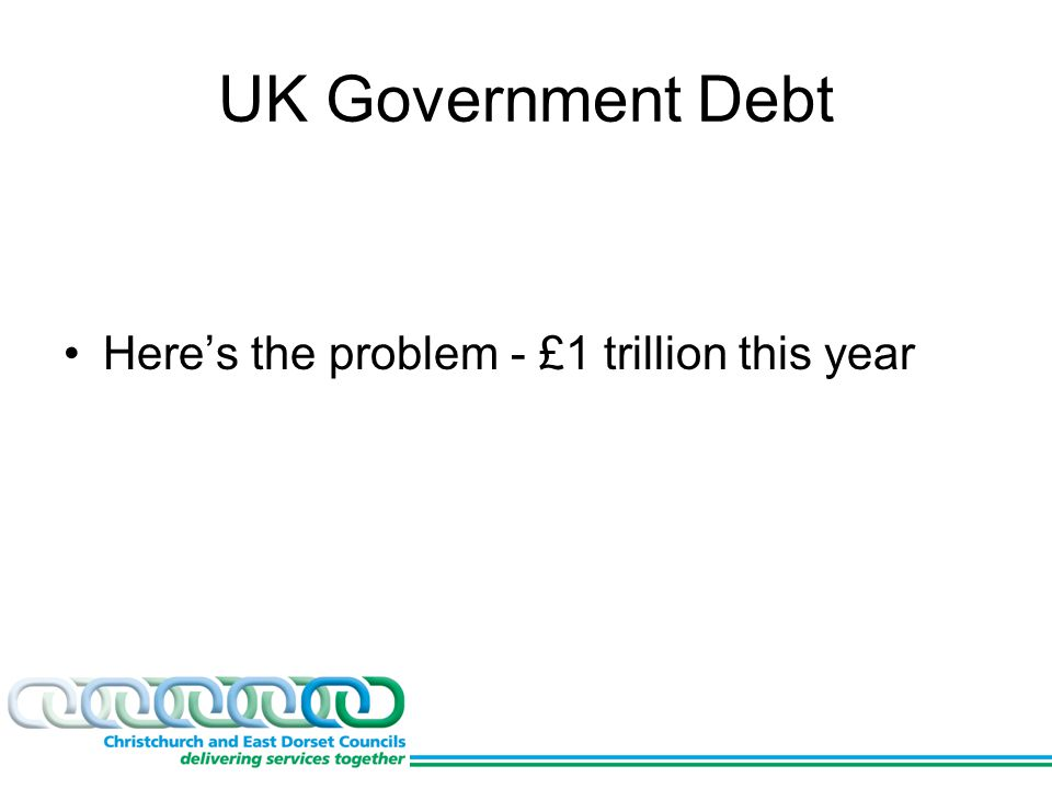 UK Government Debt Here's the problem - £1 trillion this year