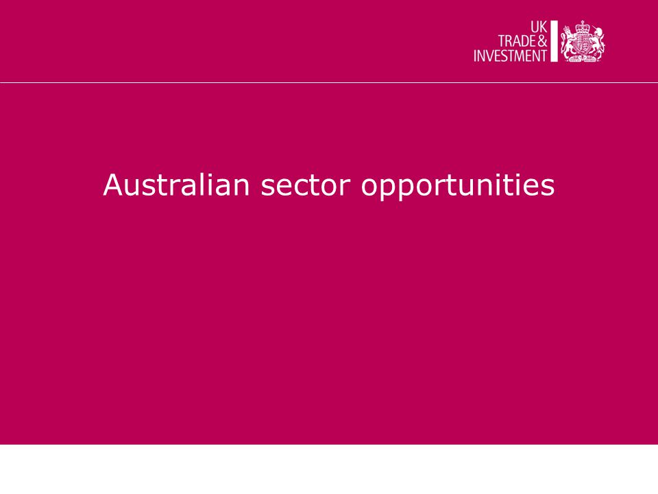 Australian sector opportunities