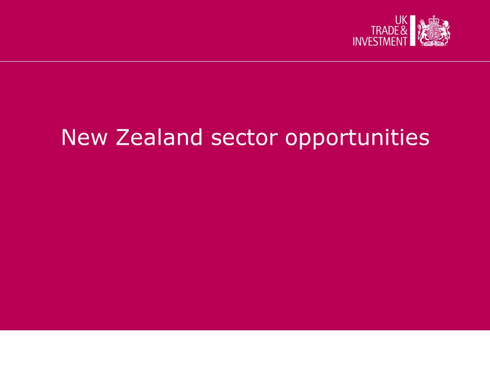 New Zealand sector opportunities