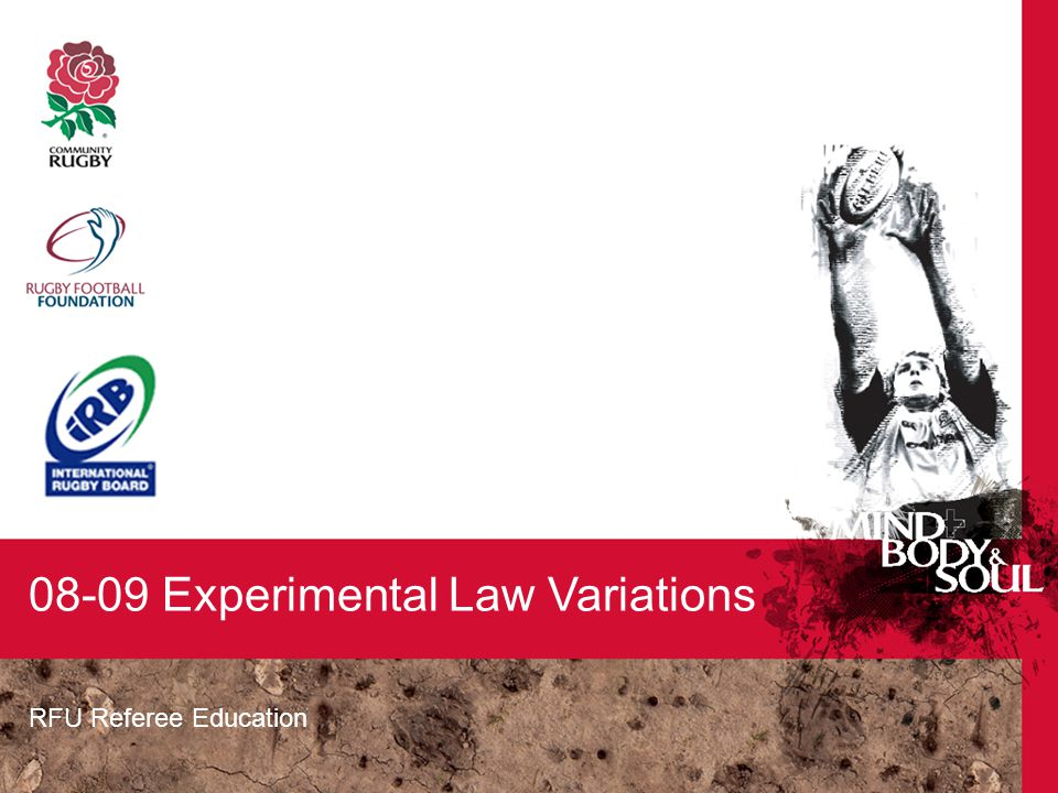 RFU Referee Education 08-09 Experimental Law Variations