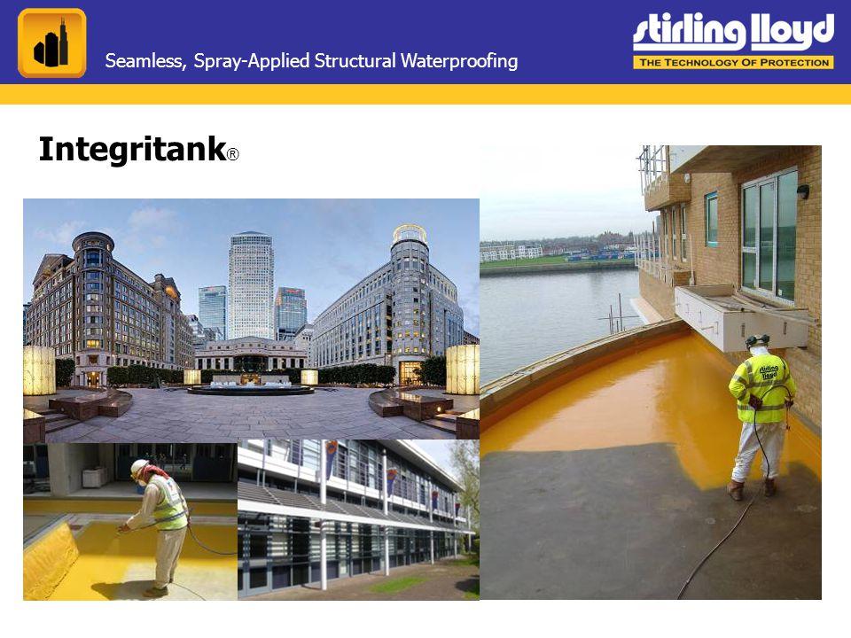Seamless, Spray-Applied Structural Waterproofing Integritank ®