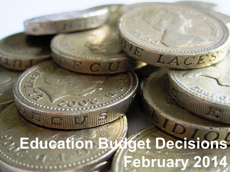 Breakdown of secondary school budget