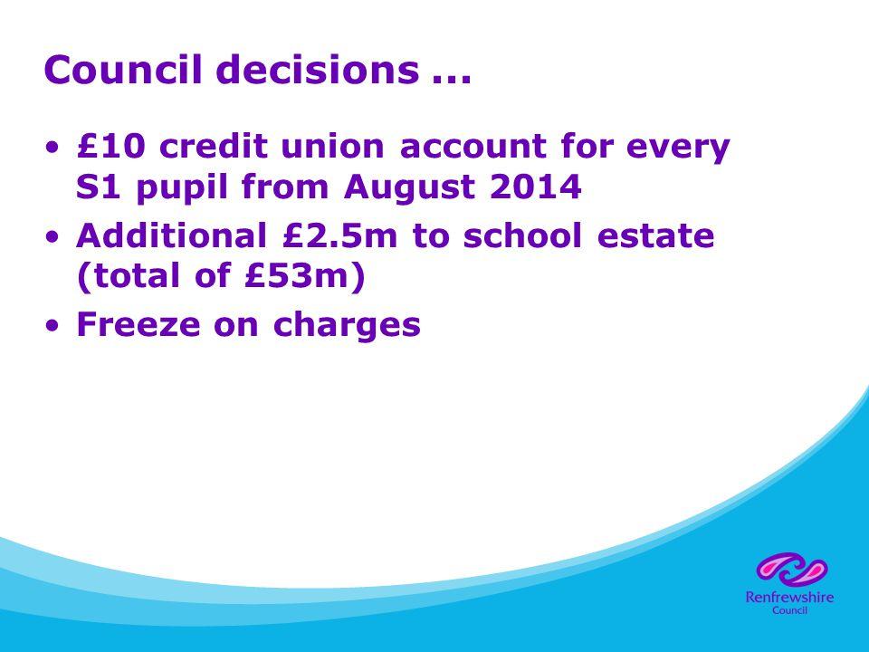 Council decisions...