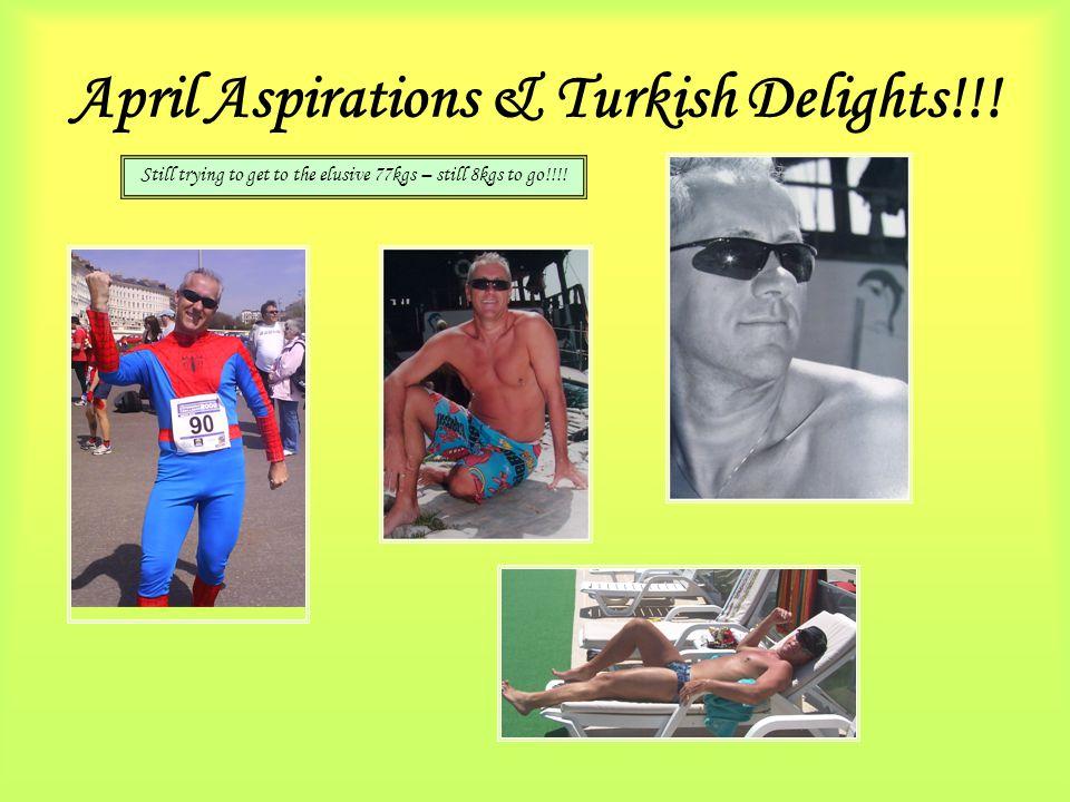 April Aspirations & Turkish Delights!!.