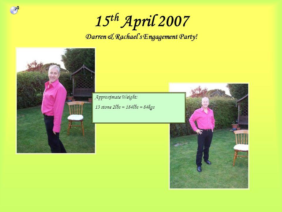 15 th April 2007 Darren & Rachael's Engagement Party.