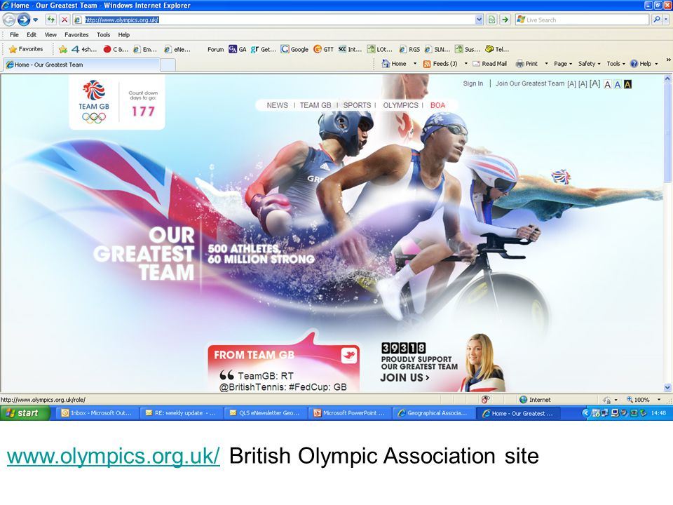 www.olympics.org.uk/www.olympics.org.uk/ British Olympic Association site