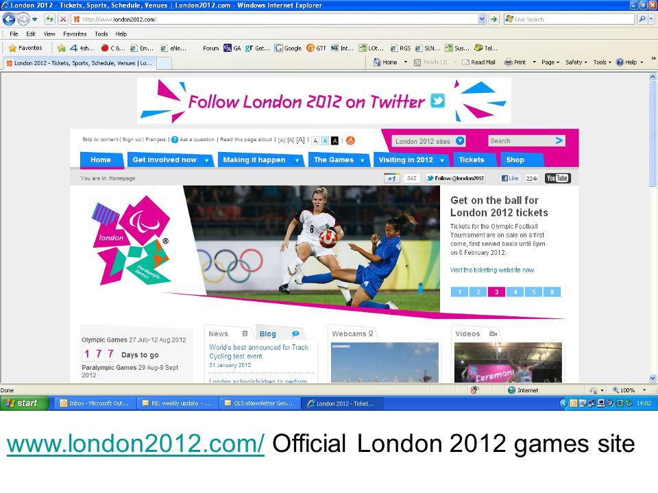 www.london2012.com/www.london2012.com/ Official London 2012 games site