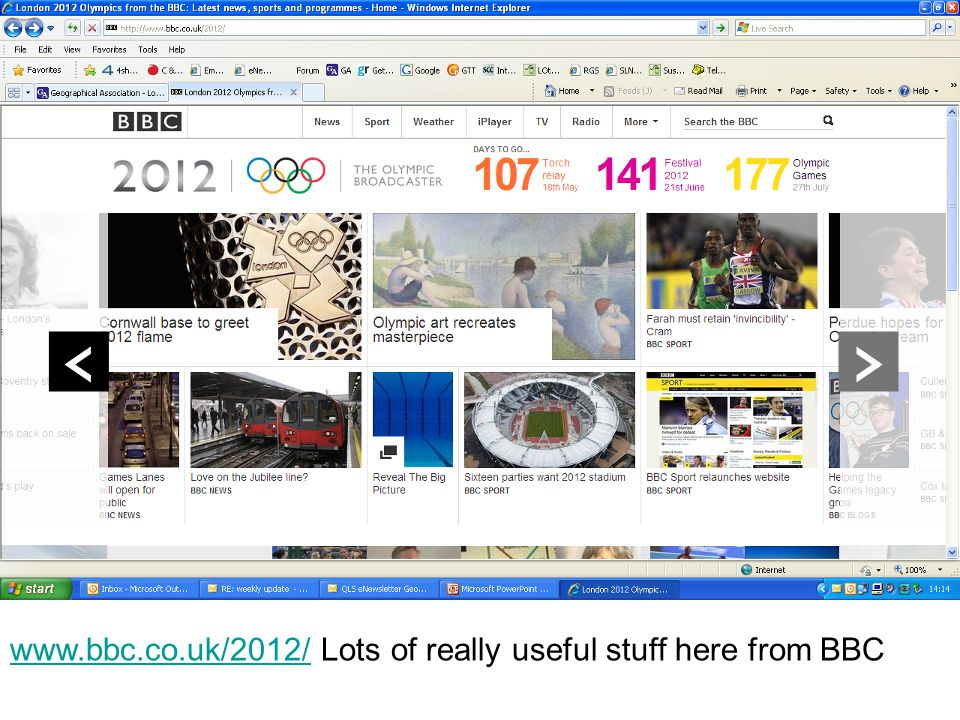 www.bbc.co.uk/2012/www.bbc.co.uk/2012/ Lots of really useful stuff here from BBC