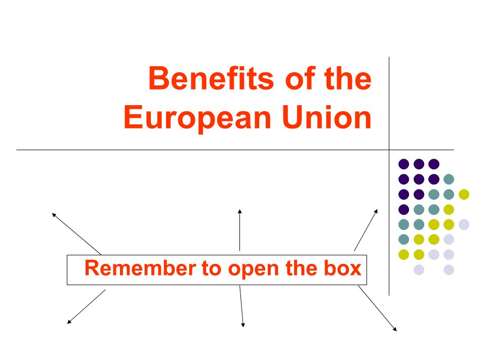 The concepts Why countries want to join the European Union.