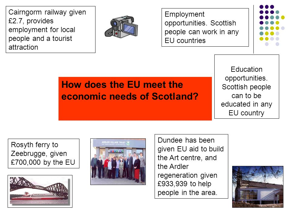 How does the EU meet the economic needs of Scotland.