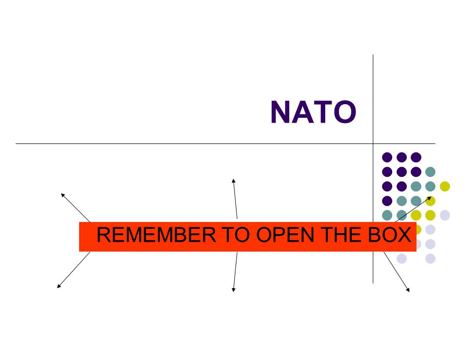NATO REMEMBER TO OPEN THE BOX