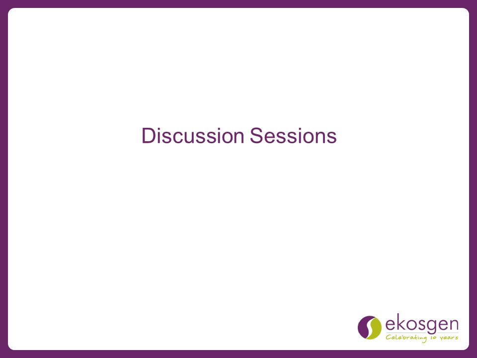 Discussion Sessions
