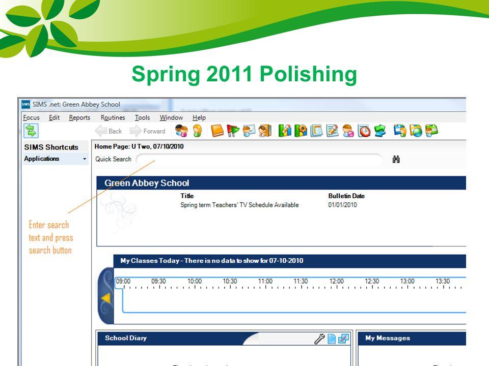 Spring 2011 Polishing