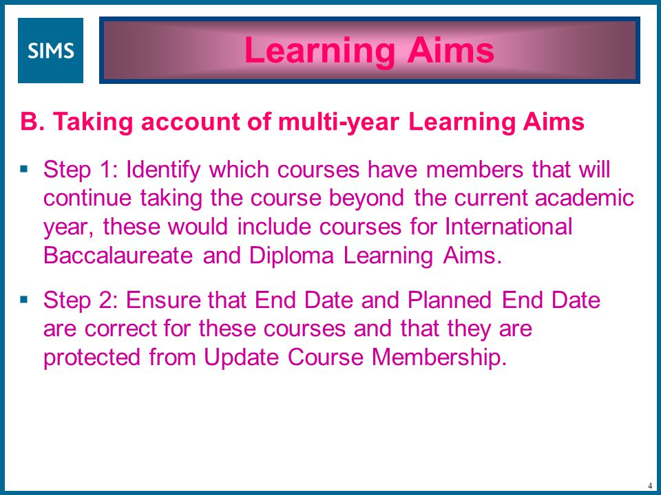  Step 1: Make sure that the membership of classes reflects reality in terms of who is a member of the class and when their membership begins and ends (or is expected to end)  Step 2: Run Update Course Membership to ensure that course memberships reflects class memberships.