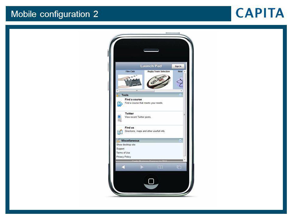 Mobile configuration 2