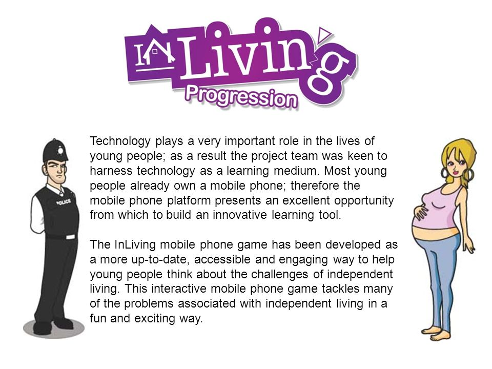 Technology plays a very important role in the lives of young people; as a result the project team was keen to harness technology as a learning medium.