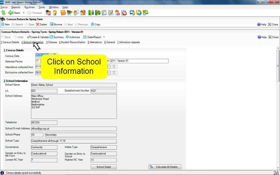 Click on School Information 26