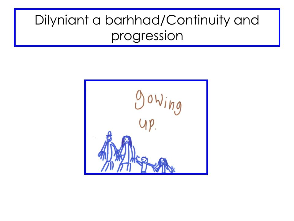 Dilyniant a barhhad/Continuity and progression