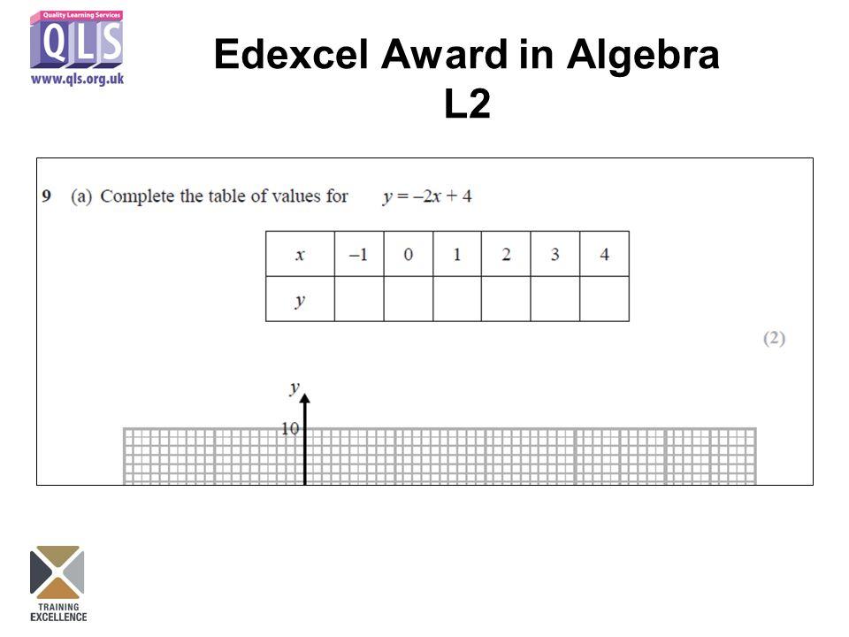 Edexcel Award in Algebra L2