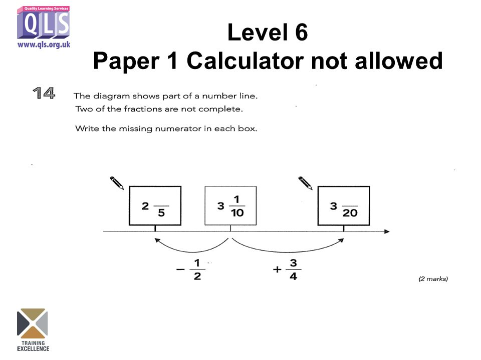 Level 6 Paper 1 Calculator not allowed