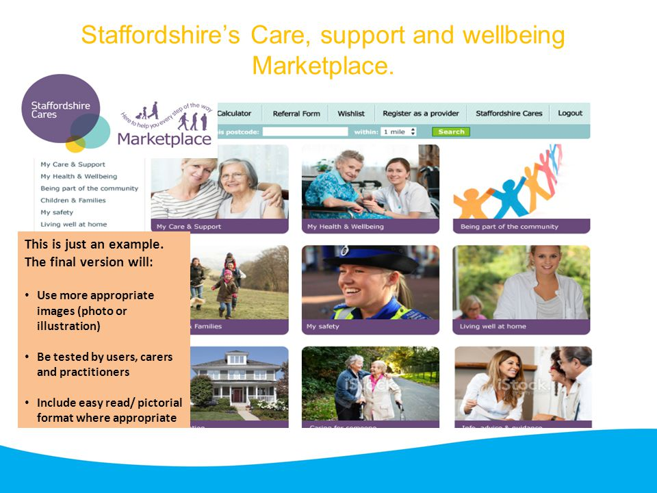 Staffordshire's Care, support and wellbeing Marketplace.