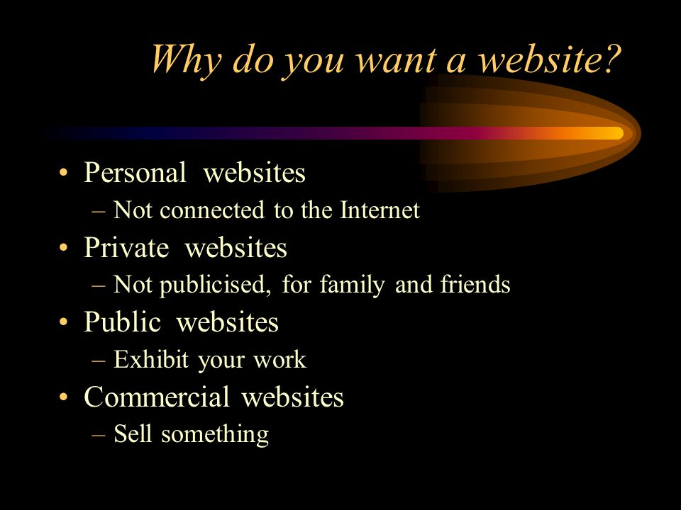 Creating a website: Costs Connecting to the Internet and acquiring both your own IP address, a URL and the domain name registration.