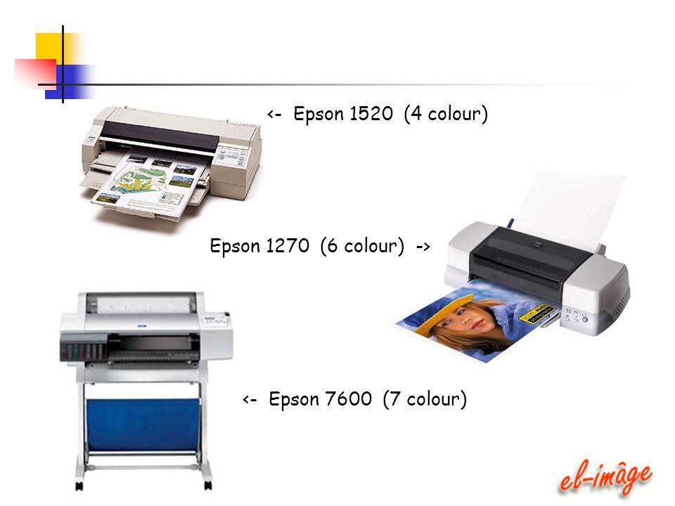 <- Epson 1520 (4 colour) Epson 1270 (6 colour) -> <- Epson 7600 (7 colour)