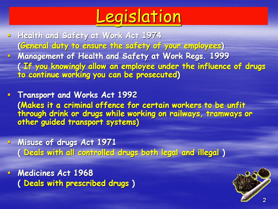 1 Drugs and the work place awareness Signs and Symptoms Ron Flowers