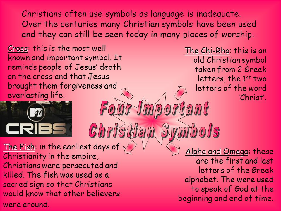 Christians often use symbols as language is inadequate.