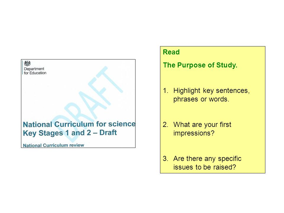 Read The Purpose of Study. 1.Highlight key sentences, phrases or words.