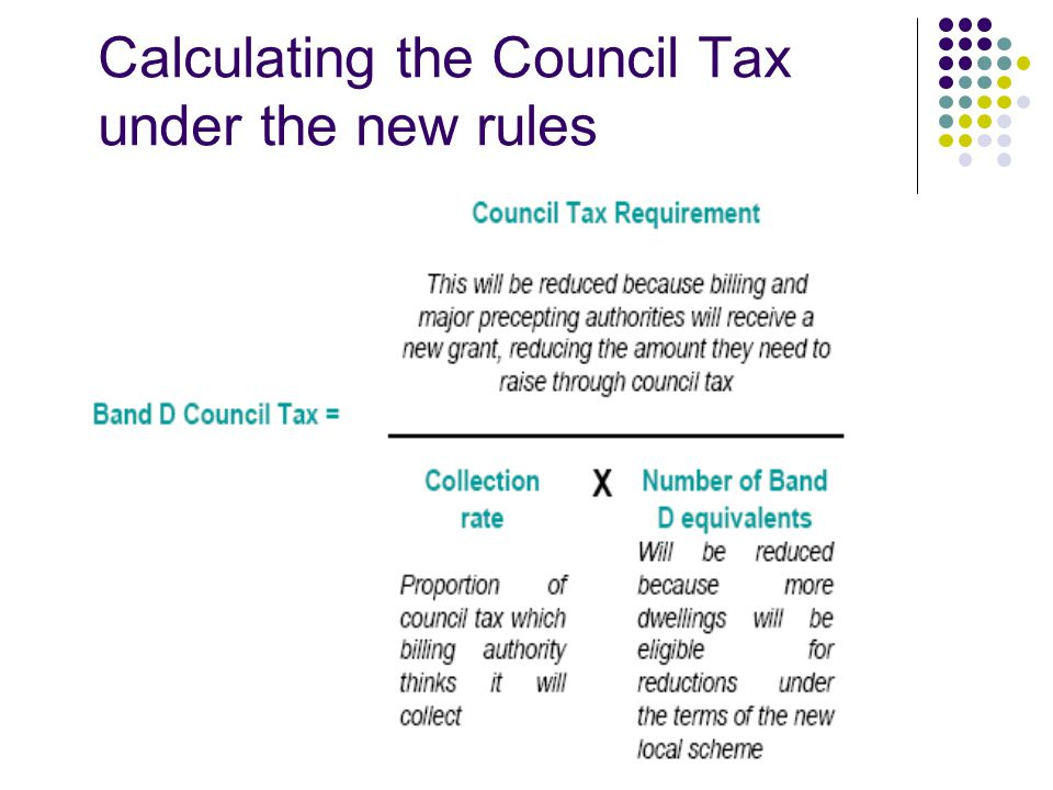 Calculating the Council Tax under the new rules
