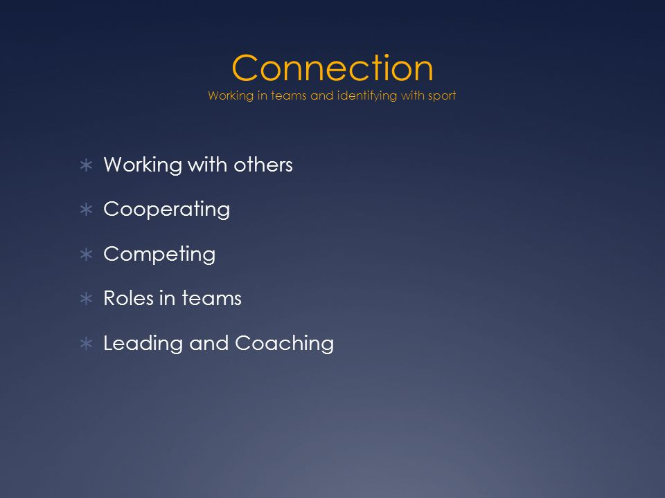 Connection Active StartResponding positively to guidance and new experiences by fully participating in a variety of activities that offer opportunities for learning.
