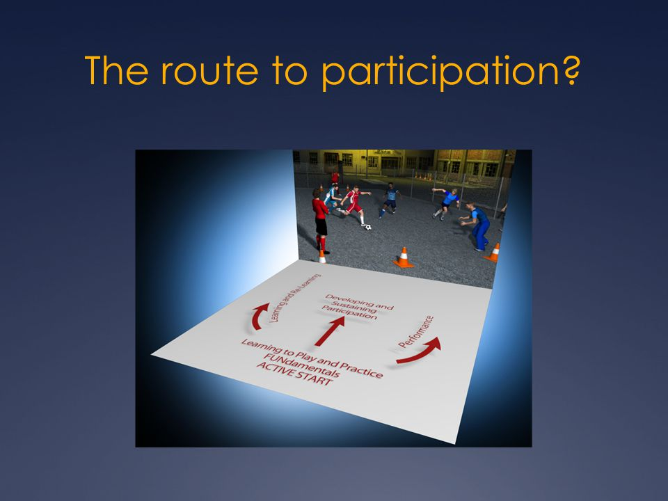 The route to participation Is it progressive.Shouldn't all routes have an element of progression.