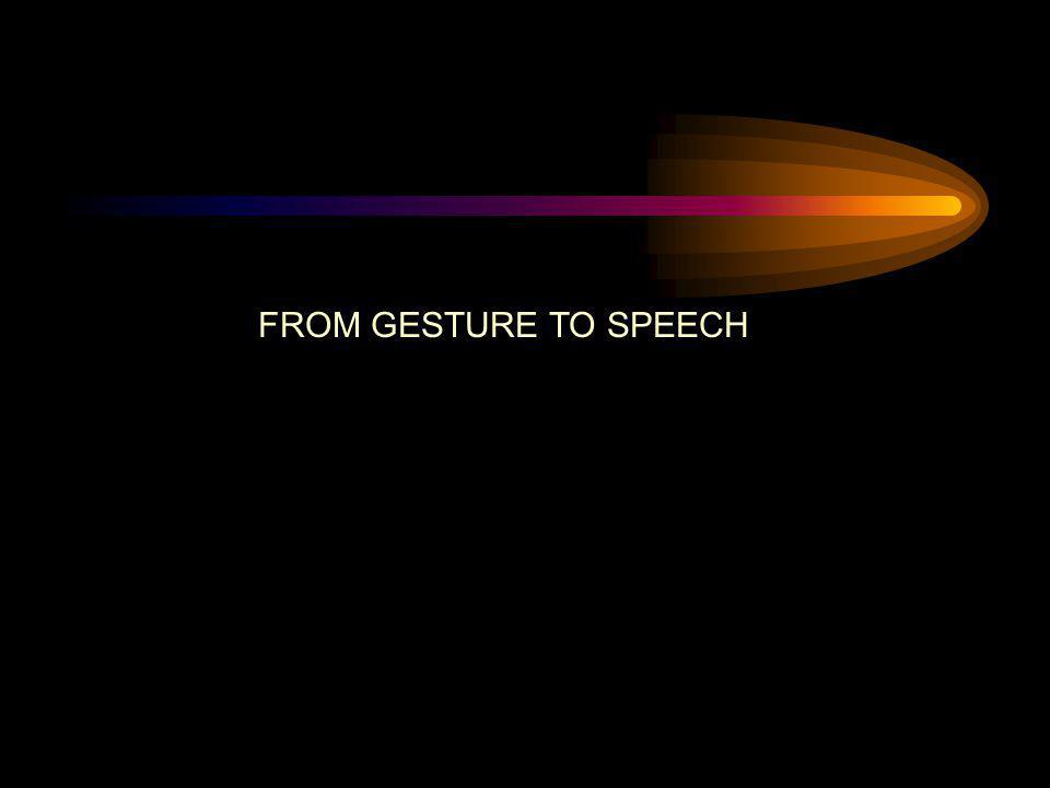 FROM GESTURE TO SPEECH