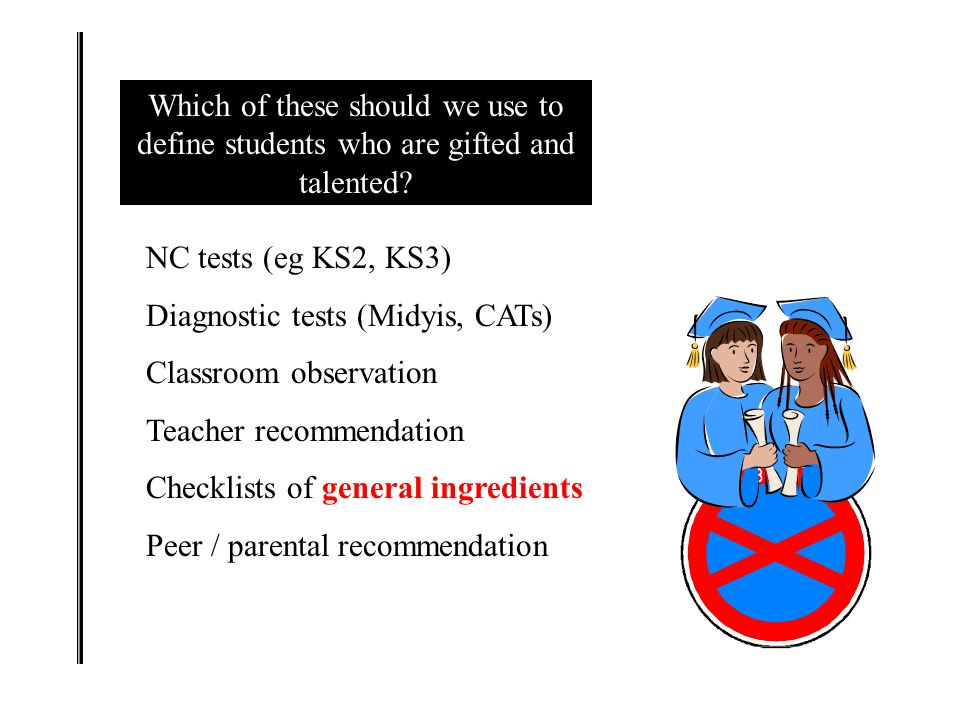 Which of these should we use to define students who are gifted and talented.