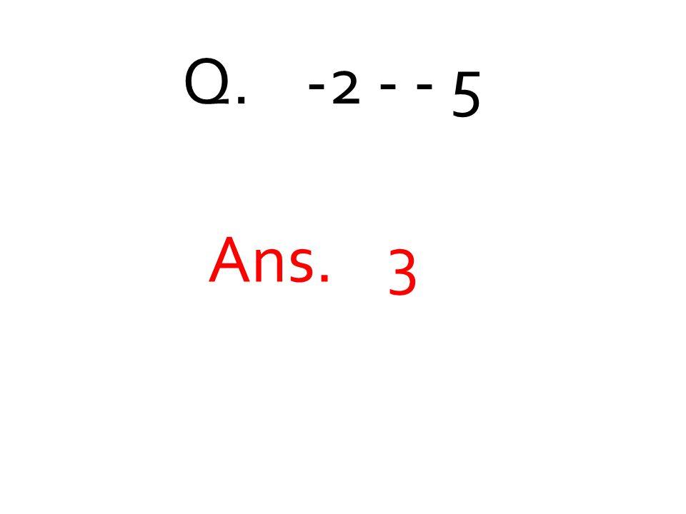 Q. -2 - - 5 Ans. 3