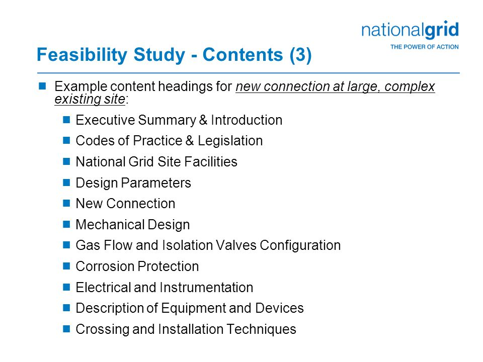 Feasibility Study - options  Standalone – as is  Combined with Conceptual Design Study (CDS) – does not include final detailed design and construction  review the use and purpose of the CDS in order to achieve this  Others?