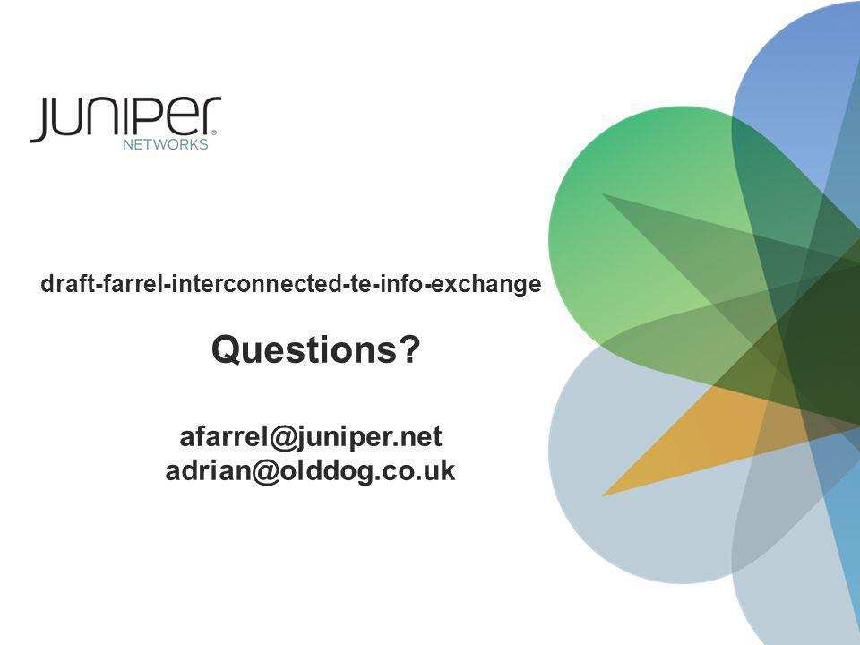 draft-farrel-interconnected-te-info-exchange Questions afarrel@juniper.net adrian@olddog.co.uk