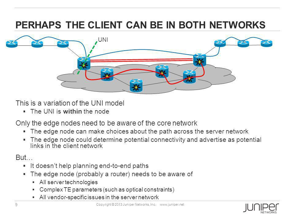 10 Copyright © 2013 Juniper Networks, Inc.